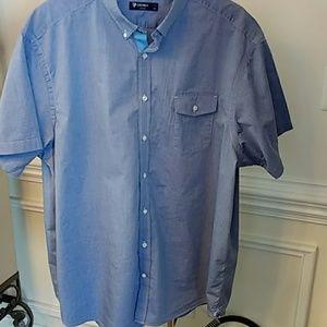 Cremieux Shirt Size 3XB - Blue Short Sleeve
